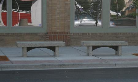 5th Street Recycled Stone Benches