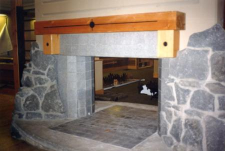 Lodge Granite Fireplace