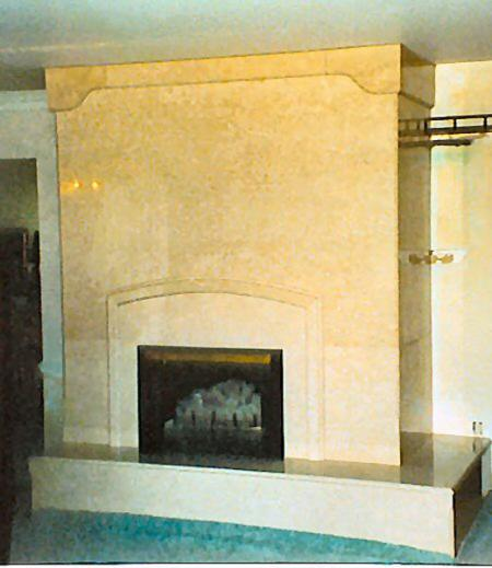 Marble Accent Fireplace