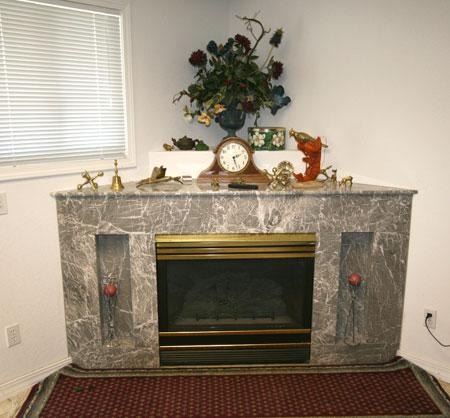 Marble Corner Fireplace